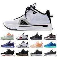 Klasik Oreo Paul George PG 4 IV Erkek Basketbol Ayakkabı PG4 Turuncu GX Bred Ekose Eğitmenler Erkekler Spor Sneakers US7-12