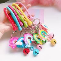Candy Color Star Rainbow Keychain Tassel Charm Portachiavi Portachiavi Borsa Hangs Moda gioielli regalo e sabbioso Nuovo
