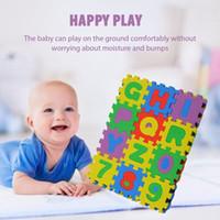 36pcs / 세트 다채로운 퍼즐 아이 교육 장난감 알파벳 문자 숫자 거품 재생 매트 아기 크롤링 패드 아기 장난감