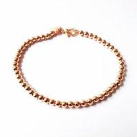 Hermosa moda elegante color de oro color plata 4 mm beads cadena mujer señora linda pulsera de alta calidad magnífico joyería h198 h sqcsqw