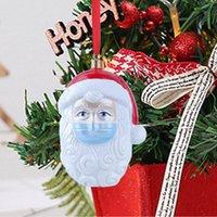 3D Harz Weihnachten Oranment 2020 Weihnachtsbaum-hängende Verzierung Survivor Familie Soziales Distanzierung Weihnachtsmann-Anhänger-Partei-Dekoration LJJP716