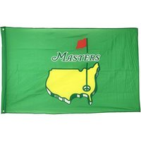 3x5 Masters PGA Golf Sport Flagge, 100% Polyester-Gewebe beidseitiges Drucken 80% Bleed, eine Schicht, hängend