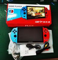 X12 PLUS لعبة فيديو 7INCH LCD مزدوجة الكرسي الهزاز المحمولة المحمولة ألعاب ريترو وحدة تحكم لعبة فيديو لاعبين GBA SFC MD الألعاب ألعاب ريترو