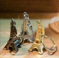 Tour Eiffel Keychain estampillé Paris France Tour Pendentif Key Cadeaux Cadeaux Fashion Gold Sliver Bronze 0850