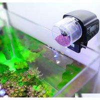 디지털 뮬 Matic 수족관 탱크 물고기 음식 4 피더 타이머 Qyldgy Packing2010