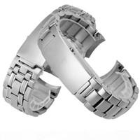 PEIYI Gandband Solide Bracelet en acier inoxydable 20mm Sangle d'acier de rechange Mâle Accessoires pour OMEGA 007 CJ191225