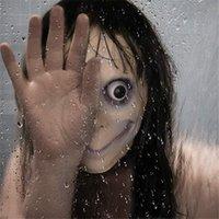 Gair Pair Game Momo Mask Sterna Cosplay реквизит маски Детские взрослые ужас напуганный призрак шлем латексная маска модный шар Хэллоуин вечеринка Y200103