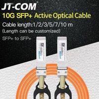 Équipement à fibre optique 10G SFP + TO AOC Câble 1M 2M 3M 5M 7M 10M Module SFP OM2 SUPPORT ACTIVE SUPPORT Personnalisé1