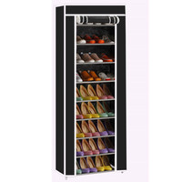 Room- saving 10- Layers 9 Lattices Non- woven Fabric Shoe Rack ...