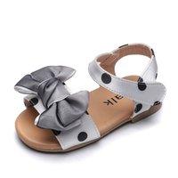 Sandálias Meninas 2020 Pontos de Onda de Verão Bebê Princesa Doce Sapatos de Moda Selvagem Soft Bottom Sapatos Respiráveis Crianças Sapatos