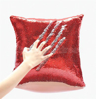Varios estilos Sublimación en blanco cubierta de almohada de lentejuelas de alta calidad y funda de almohada simple decoración de ancho aplicabilidad suministros para el hogar