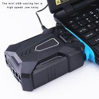 Almofadas de resfriamento de laptop 2021 Aspirador de aspirador de ar refrigerador de ar do USB ventilador externo para velocidade ajustável1