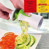 Sebze Spiralizer Dilimleme Twister El Spiral Bıçakları Kesici Meyve Rende Pişirme Araçları Spagetti Makarna Mutfak Gadget DHL Ücretsiz Navlun
