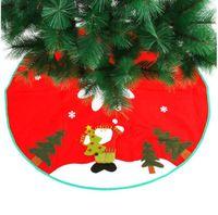 90 centimetri Albero di Natale Babbo Natale del fiocco di neve Gonna Small Red Nov-tessuto Albero Gonna Capodanno 2020 decorazione di Natale per la casa