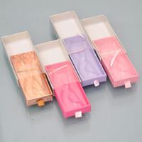 10 / paquet Cils gros Emballage Boîte Lash Boîtes d'emballage Nom de logo personnalisé Faux Mink Lashes bande VIDER vendeurs de cas