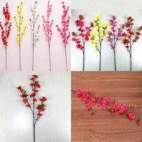 Искусственные цветы Peach Blossom Cherry Декоративное Branch Длинные Короткие Стиль Свадеб Living Room Hotel Крытый Decor Flower 2 49hr G2
