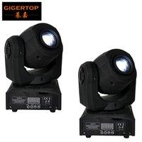 Freies Verschiffen 2XLOT Mini Cree 10W LED bewegliche Hauptpunkt-Licht-Leistungs-Silent-Arbeits DMX512 Licht Minipartei-Disco-Nachtclub