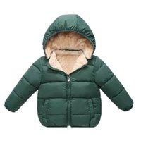 Зимние Parkas детские куртки шапки съемные флисовые мальчики девушки супер мягкие теплые сгущает бархат детское пальто детское верхняя одежда куртка LJ201017