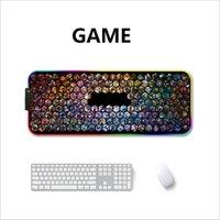 LED RGB USB ماوس الوسادة الألعاب الفئران خريطة كبيرة الإضاءة الكبيرة الخلفية rainbow graber xl mousepad 900x400 السطح لوحة المفاتيح Deskmat maus LJ201031