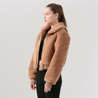 Qiuchen pj19029 nova chegada mulheres jaqueta de lã casaco de inverno elegante e leve modelos de venda quente 201209