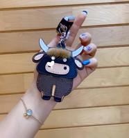Trend Keychains Designer Retro Lettere Moda Borsa Cow Pendant Car Keychain WF2012212