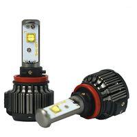 السيارة الأمامية V16 H4 LED H1 H3 H7 H11 880 H13 9005 9006 مرحبا / لو 80 واط 9600lm EMC توربو 6000 كيلو قوي مشرق مصباح الضباب ضوء تحويل كيت 1