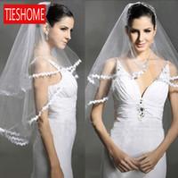 Cheap вуаль оптом свадьба свадьба 1,5 м однослойный листья листья кружева небольшая вуаль белый / красный