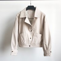 Fitaylor Autumn Faux Leather Jacket Women Pu Motorcycle Short Biker Coat Single Breasted Big Pocket Faux Soft Leather Outwear 201119