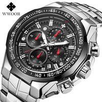 Wwoor 고품질 일곱 바늘 남자 모션 섹션 철강 가져 오기 석영 방수 손목 시계 시계 크로노 그래프 시계 Wholesales Watches
