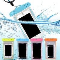 Protetores impermeáveis do maloque do saco do telefone móvel do PVC que mergulham esportes de natação para iphone