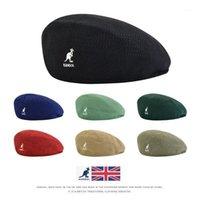 حار الرجعية الرجال النساء kangools القبعات قبعة شبكة عارضة درج قبة الجوف تنفس القبعات أزياء التطريز شعار قبعة قبعة snapback1