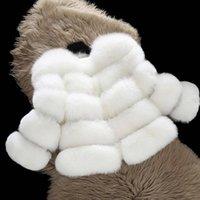 2020 Winterfaux-eleganten Baby-Fox-Pelz-Jacken und Mäntel Warmer Parka Kind-Oberbekleidung Kleidung starke Mädchen Mantel C1012