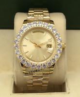 Best-seller Moda de Alta Qualidade Men's 44mm Diamond Watch Men's Day-Date Aço Inoxidável Assista Automático Mecânica Luminosa Relógio