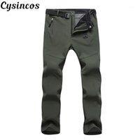 Cysincos التكتيكية السراويل الجيش الذكور كامو عداء ببطء زائد حجم السراويل العديد من جيب البريدي نمط التمويه الأسود الرجال البضائع السراويل 1