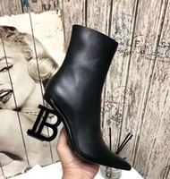 The latest autumn and winter B- heeled ankle boots, the inner...