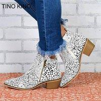 Tino Kino Nova Mulher Leopardo Ankle Botas Outono Mulheres Pu Couro Zip Salto Alto Plataforma Feminina Moda Casual Sapatos1
