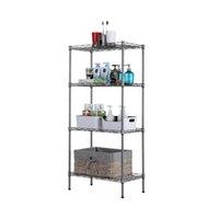 Estantería de alambre ajustable de 4 niveles de Waco Rack de almacenamiento de metal para lavandería Cocina de baño 243 libras de capacidad