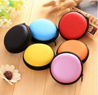 New Round Earphone Storage Carrying Bag Earbud Case Cover Fo...