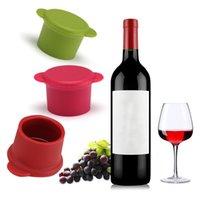 سيليكون زجاجة النبيذ سدادة الحفظ الإبداعي سدادات النبيذ المشروبات إغلاق النبيذ الشمبانيا سدادة بار أدوات المطبخ XD24403