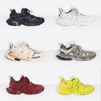 2021 رجل المسار 3.0 احذية 100٪ حقيقي جلدي المدربين المرأة شبكة نايلون مطبوعة أحذية المسار منقوش منصة الهواء أحذية عارضة مع صندوق