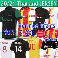 RC عدسة Sainte-Barbe Soccer Jerseys Kakuta Ganago Sotoca Muinga Medina Bade 2021 Mailleot De Fot Men Kits Kids Football Shirts