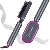 فرش الشعر الكهربائية ايون استقامة فرشاة بكرة PTC تسخين التدفئة مشط المهنية 2 في 1 أدوات التصميم 1