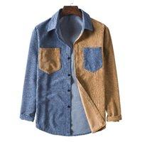남성 하라주쿠 셔츠 남성용 코듀로이 긴 소매 셔츠 캐주얼 스트리트웨어 긴 소매 셔츠 chemise homme