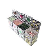 스트레이트 튜브 유리 오일 버너 파이프 상자 4 인치 임의의 꽃 손 파이프 DAB 조작