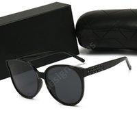 CHANEL CH 새로운 패션 디자이너 선글라스 고글 이동식 마스킹 프레임 장식용 안경 여름 UV400 야외 보호 렌즈 최고 품질 H12
