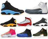 Pas cher Jumpman Chaussures de basket-Bred 11s Concord gris foncé 12s Royal Game 13s chapeau et robe de manque de chat entraîneurs des hommes de sport Chaussures de sport