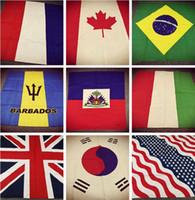 Corea del algodón de la bandera de EE.UU. Serie Reino Unido Francia Alemania del Sur Brasil Canadá México Punk Hip Hop Sombreros / Pañuelos bufanda pañuelo para el cuello de pelo