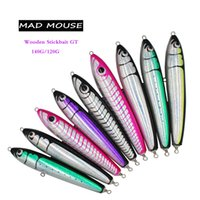 New Mouse Mouse Topwater Stickbait De Madeira GT Trolling Lure 140G / 120g Deep Sea Lápis Barco Pesca Artificial Isca Oceano Y200830