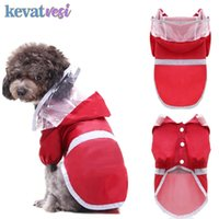 Pet Cat Dog Raincoat Waterproof Breathable Mesh Inside Dog Rainwear Reflective Puppy Outdoor Medium Small Dogs Pet Rain Gear