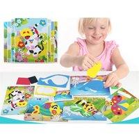الكثير الأطفال إيفا ملصقات مجموعة الطفل اليدوية لعب الاطفال diy ثلاثي الأبعاد الفتيات souptoys الأولاد هدية LJ201019